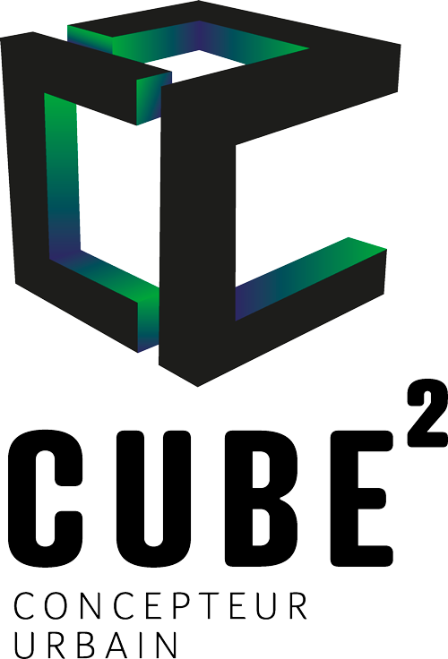 Logo Cube², concepteur urbain et bureau d'études environnementales