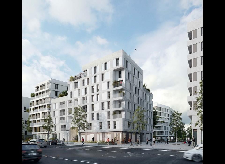 Réalisation de 600 logements collectifs, de commerces et d'un parking silo - ZAC du Canal de l'Ourcq - Noisy le Sec - 93 - Seine Saint Denis