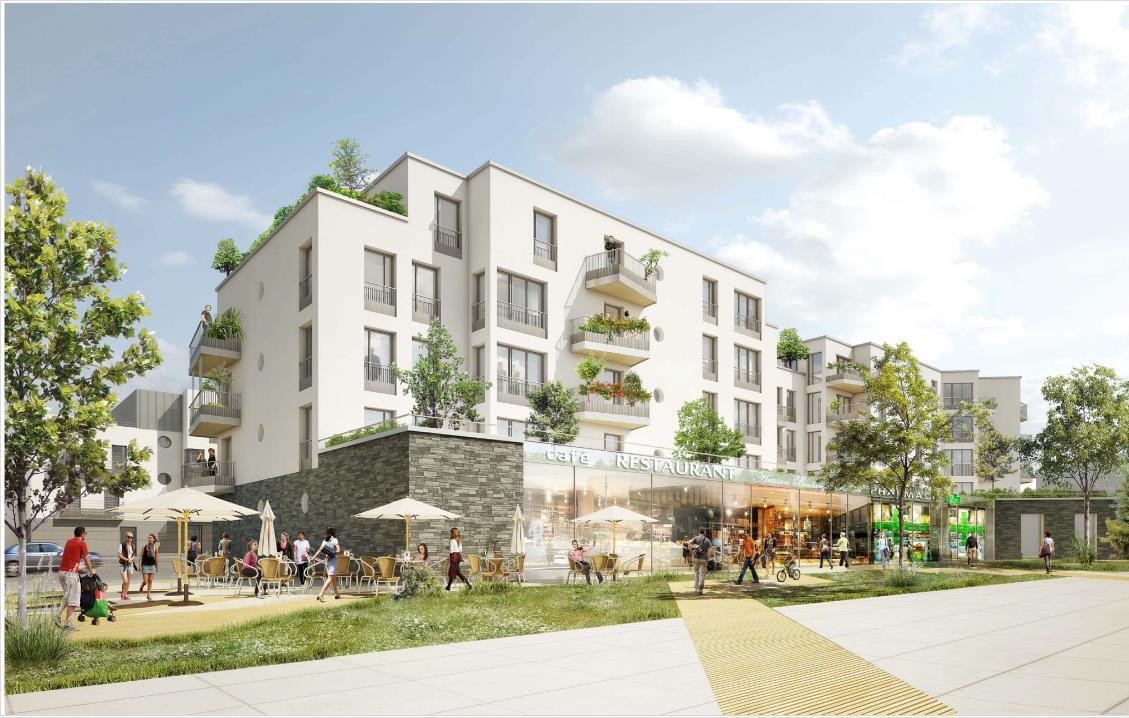 Réaménagement de la Place Claude Monet à Saint-Thibault des Vignes - EPA Marne (77)