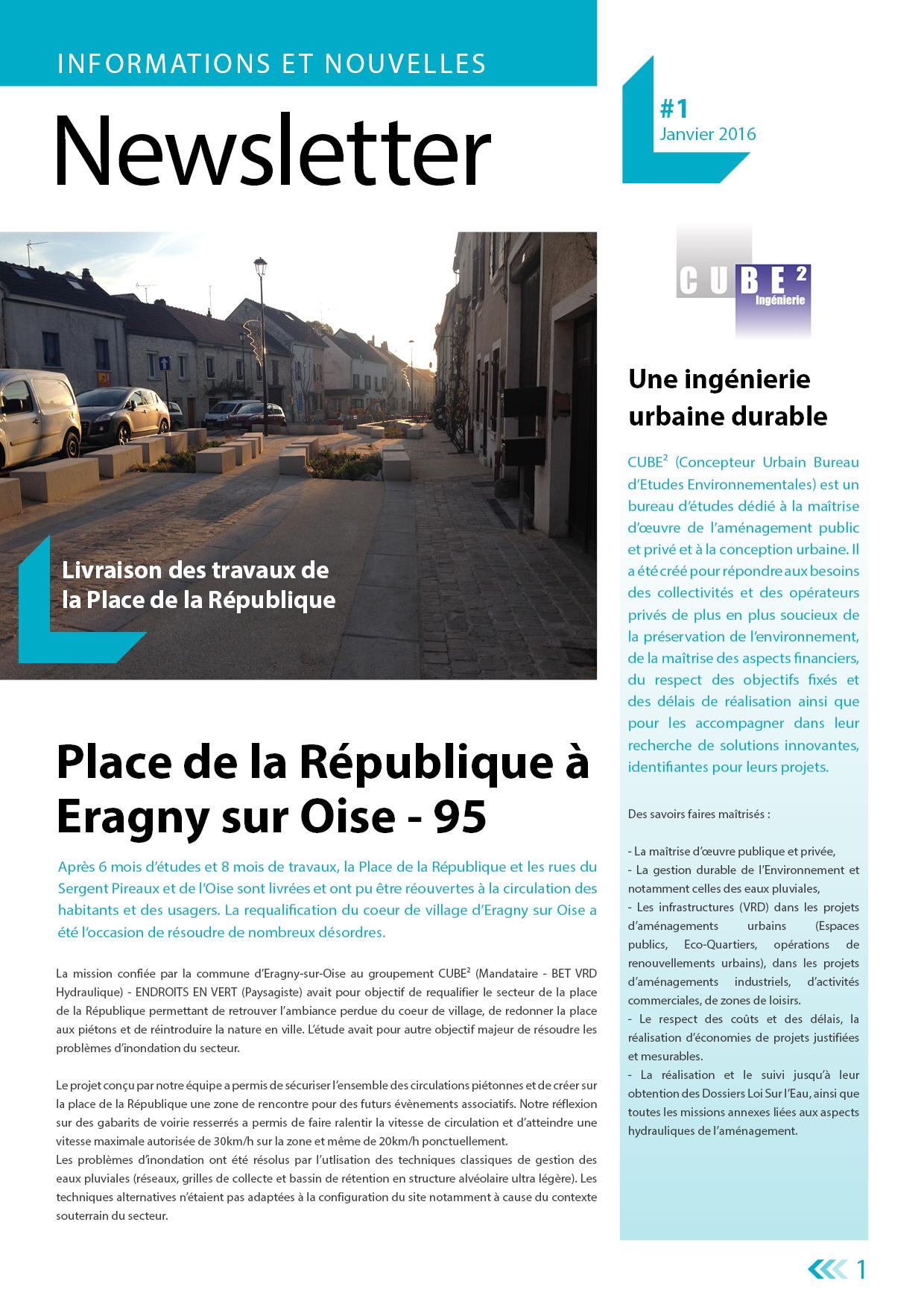 Newsletter n°1 - Janvier 2016