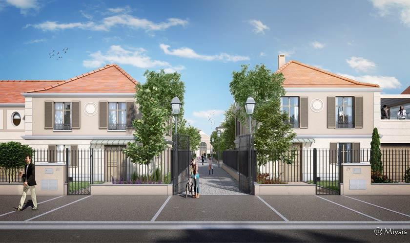 Réalisation pour Bouygues Immobilier du Clos du Lys à L'Isle Adam - 95 - Val d'Oise