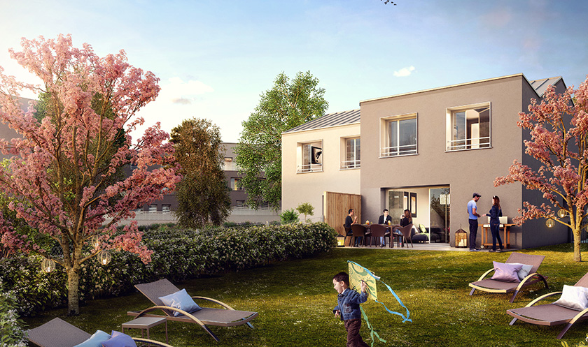 Construction de logements collectifs et de maisons individuelles à Saint-Ouen l'Aumone (95)